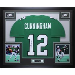 "Randall Cunningham Signed Eagles 35"" x 43"" Custom Framed Jersey (JSA COA)"