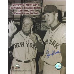 Jay Hook Signed Mets 8x10 Photo (FSC COA)