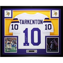 "Fran Tarkenton Signed Vikings 35"" x 43"" Custom Framed Jersey Inscribed ""HOF 86"" (JSA COA)"
