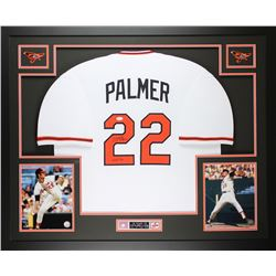 "Jim Palmer Signed Orioles 35x43 Custom Framed Jersey Inscribed ""HOF 90"" (JSA COA)"