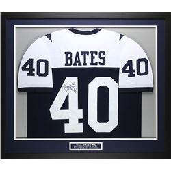 "Bill Bates Signed Cowboys 35"" x 43"" Custom Framed Jersey (JSA COA)"