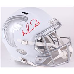 Matt Ryan Signed Falcons Full-Size Custom White ICE Speed Helmet (Fanatics Hologram)