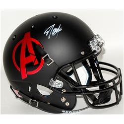 "Stan Lee Signed Custom Matte Black ""Avengers"" Full-Size Helmet (Lee Hologram)"