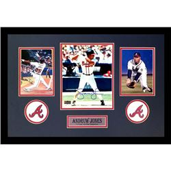 Andruw Jones Signed Braves 16x26 Custom Framed Photo Display (Radtke COA)