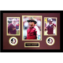 Bobby Bowden Signed Florida State Seminoles 16x26 Custom Framed Photo Display (Radtke COA)
