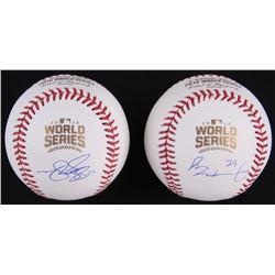 Lot of (2) Signed Official 2016 World Series Baseballs with (1) Matt Szczur  (1) Rob Zastryzny (Schw