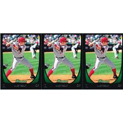 Lot of (3) 2011 Bowman Draft #101 Mike Trout RC