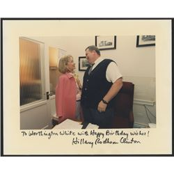 """Hillary Clinton Signed 8x10 Photo With Full-Name Signature Inscribed """"Happy Birthday Wishes!"""" (JSA L"""