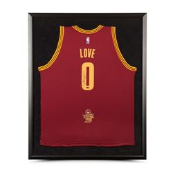 Kevin Love Signed Cavaliers 2016 NBA Finals 32x38 Custom Framed Jersey (UDA)