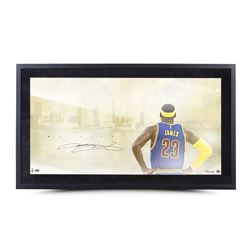 "LeBron James Signed Cavaliers ""My City"" 24x42 Custom Framed Limited Edition Photo (UDA)"