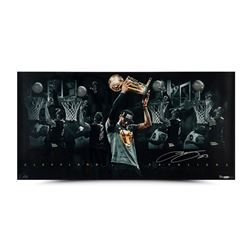 "LeBron James Signed Cavaliers ""Congratulations"" 18x36 Custom Framed Limited Edition Photo (UDA)"