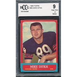1963 Topps #62 Mike Ditka (BCCG 9)