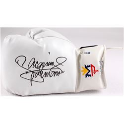 """Manny Pacquiao Signed Boxing Glove Inscribed """"Pacman"""" (Pacquiao COA)"""