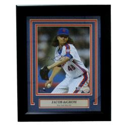 "Jacob deGrom Signed Mets 14"" x 17"" Custom Framed Photo Display (Beckett COA)"