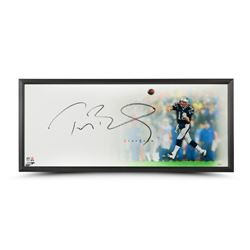 "Tom Brady Signed Patriots ""Epic"" 32x40 Custom Framed Limited Edition Photo (Steiner COA  TriStar)"