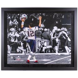 "Tom Brady Signed Patriots ""TD Signal"" 40x48 Custom Framed Limited Edition Photo (Steiner COA  TriSta"
