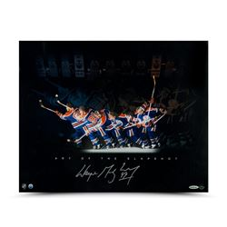 "Wayne Gretzky Signed Oilers ""Art of the Slapshot"" 16x20 Photo (UDA)"