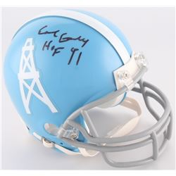 "Earl Campbell Signed Oilers Mini-Helmet Inscribed ""HOF 91"" (Radtke Hologram)"