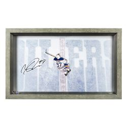 "Connor McDavid Signed Oilers ""Great from Avove"" 18.5x30.5 Custom Framed Acrylic Display (UDA)"
