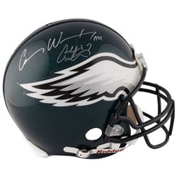 Carson Wentz  Alshon Jeffery Signed Eagles Full-Size Authentic On-Field Helmet (Fanatics)