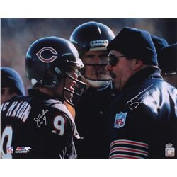 Jim Mcmahon  Mike Ditka Signed Bears 16x20 (Schwartz COA)