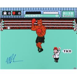 Mike Tyson Signed Punch Out 16x20 Photo (Schwartz COA)