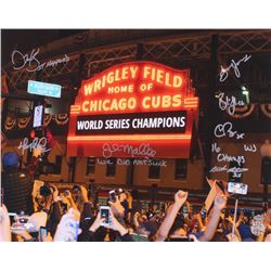 2016 Chicago Cubs Coaching Staff 16x20 Photo Signed by (7) with Dave Martinez, Chris Bosio, John Mal