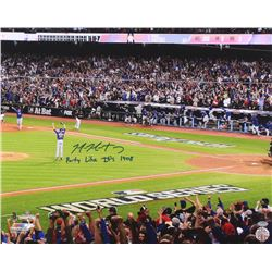 "Mike Montgomery Signed Cubs 16x20 Photo Inscribed ""Party Like It's 1908"" (Schwartz COA)"