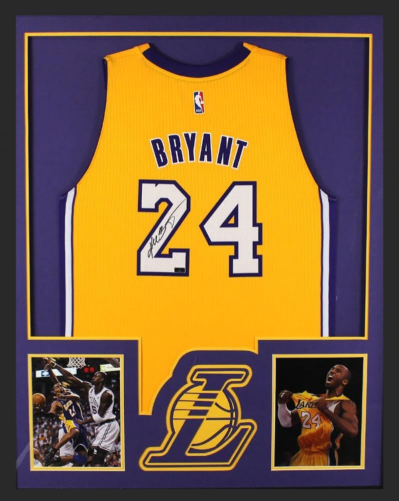 8c1fc0042 Kobe Bryant Signed Lakers 34 X 42 Custom Framed Jersey Panini