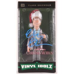 "Chevy Chase Signed National Lampoon's Christmas Vacation ""Clark Griswold"" Vinyl Idolz Figure (Schwar"