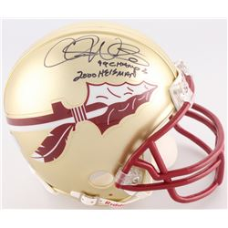 "Chris Weinke Signed Florida State Mini-Helmet Inscribed ""99 Champs""  ""2000 Heisman"" (Radtke COA)"