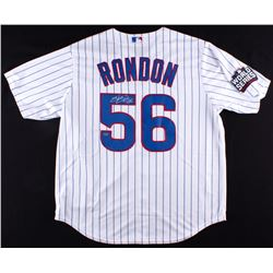 Hector Rondon Signed Cubs 2016 World Series Patch Jersey (Schwartz COA)