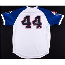 Hank Aaron Signed 1974 Braves Throwback Jersey (JSA COA)