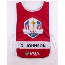 "Dustin Johnson Signed "" 2016 Ryder Cup Bib"" Caddy Bib (JSA LOA)"