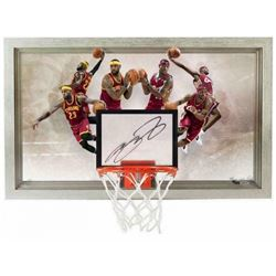 "LeBron James Signed Cavaliers LE ""Deja Vu"" 18x30 Acrylic Backboard Display (UDA COA)"