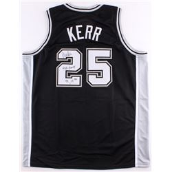 "Steve Kerr Signed Spurs Jersey Inscribed ""NBA Champs 99, 03"" (Schwartz COA)"