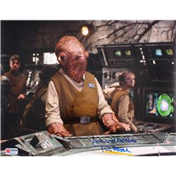 "Tim Rose Signed ""Star Wars: Return of the Jedi"" Admiral Ackbar 11x14 Photo Inscribed ""Admiral Ackbar"