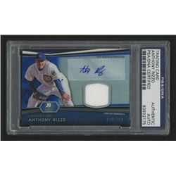 2012 Bowman Platinum Relic Autographs Blue Refractors #AR Anthony Rizzo (PSA Encapsulated)