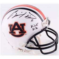 "Chris Davis Jr. Signed Auburn Mini-Helmet Inscribed ""Kick Six"" (Radtke COA)"
