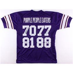 "Vikings ""Purple People Eaters"" Jersey Signed by (4) with Alan Page, Carl Eller, Jim Marshall  Gary L"