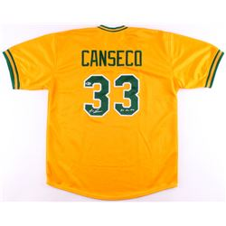 "Jose Canseco Signed Athletics Jersey Inscribed ""86 AL ROY"" (Beckett COA)"