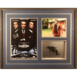 "Ray Liotta Signed ""Goodfellas"" 25x31x2 Custom Framed Photo Shadowbox Display with Replica Gun (PSA H"
