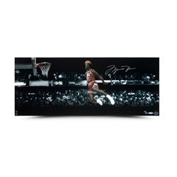 "Michael Jordan Signed Bulls ""1988 NBA Slam Dunk Contest"" 12x30 Limited Edition Photo (UDA)"