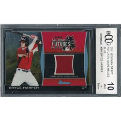 2011 Bowman Draft Future's Game Relics Blue #BH Bryce Harper #47/50 (BCCG 10)