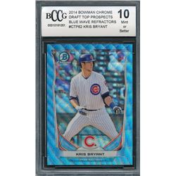 2014 Bowman Chrome Draft Top Prospects Blue Wave Refractors #CTP62 Kris Bryant (BCCG 10)