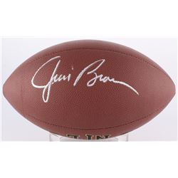 Jim Brown Signed Wilson Football (PSA COA)