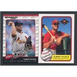 Lot of (2) Albert Pujols Rookie Cards with 2001 Donruss Rookies #R97 Albert Pujols   2001 Fleer Plat