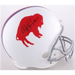 O.J. Simpson Signed LE Bills Throwback Full-Size Helmet (JSA COA  Official O.J. Simpson Hologram)