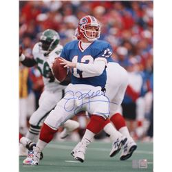 Jim Kelly Signed Bills 16x20 Photo (Kelly Hologram)
