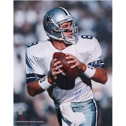 Troy Aikman Signed Cowboys 16x20 Photo (Aikman Hologram)